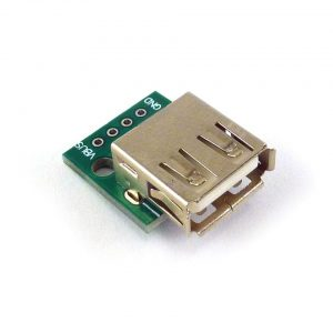 USB-A female connector op adapterboard