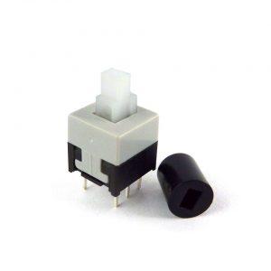 DPDT druk knopje 8.5 x 8.5mm